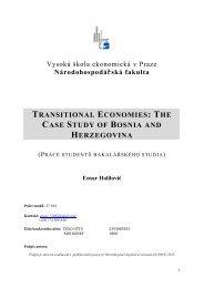 transitional economies - Národohospodářská fakulta - Vysoká škola ...