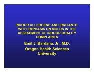 Indoor Allergens and Irritants - Harvard University Department of ...