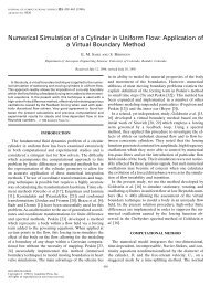 Numerical Simulation of a Cylinder in Uniform Flow: Application of a ...