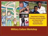 Educational Partnerships Branch - Military K-12 Partners - DoDEA