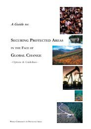 Securing Protected Areas in the Face of Global Change - World ...