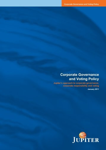 Corporate Governance and Voting Policy - Avon Pension Fund