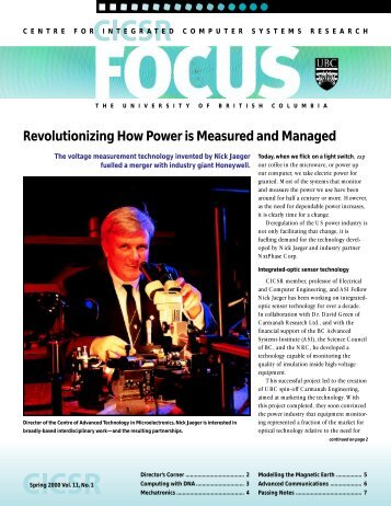 FOCUS Spring 2000 - ICICS - University of British Columbia