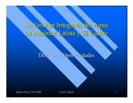 La Gestión Integrada del Agua en América Latina y El ... - Cap-Net
