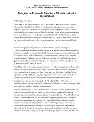 Relações de Ensino de Ciências e Filosofia: primeira aproximação