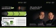 Unser aktueller Flyer mit vielen Infos zum Thema EDV - BTW IT