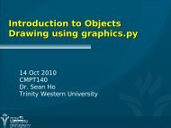 Introduction to Objects Drawing using graphics.py