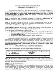 FACULDADE DE CIÊNCIAS MÉDICAS-UNICAMP ... - Fcm