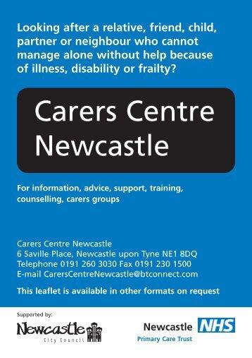 Carers Centre Newcastle - Newcastle City Council