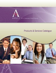 Products & Services Catalogue - ASPECT