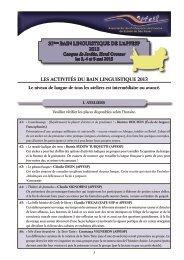 Programme - Associação dos Professores de Francês do Estado de ...