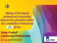what are the principles behind the Localization Professional group