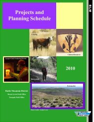Projects and Planning Schedule - Bureau of Land Management