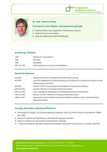 Dr. med. Clemens Fahrig Facharzt für Innere Medizin, Schwerpunkt ...