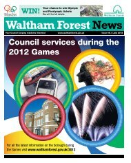 Council services during the 2012 Games - Waltham Forest Council