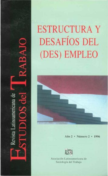 empleo - Revista Latinoamericana de Estudios del Trabajo