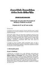 Projeto anti-bullying 2010/2011 Informação para pais