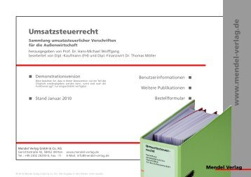 Demo Umsatzsteuerrecht