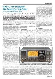 Icom IC-718: Einsteiger- KW-Transceiver mit Extras