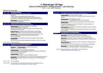 3. Oldenburger 3D-Tage - IAPG