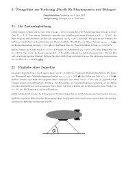 """6. Übungsblatt zur Vorlesung """"Physik für Pharmazeuten und ..."""