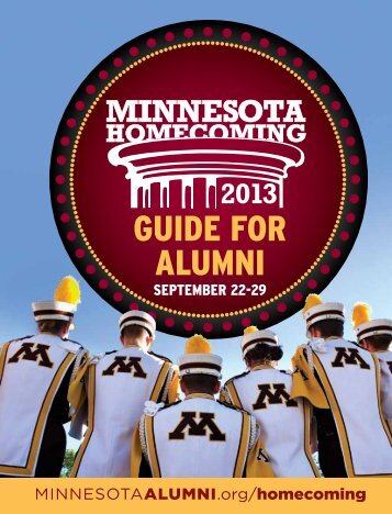 GUIDE FOR ALUMNI - University of Minnesota Alumni Association