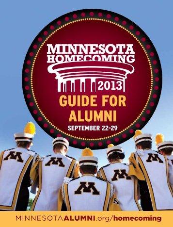 GUIDE FOR ALUMNI - University of Minnesota Alumni Association
