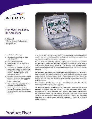 Flex Max 321e 1GHz Line Extender Amplifier - Arris