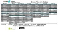 Group Fitness Clubname - Life Time Fitness Scheduling