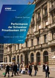 Performance der Schweizer Privatbanken 2013