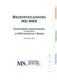 Brukerveiledning - Helse Bergen