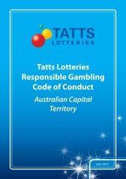 Tatts Lotteries Responsible Gambling Code of Conduct