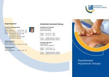 Physiotherapie Physikalische Therapie - Kreiskliniken Darmstadt ...