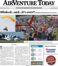 Sponsor of the day - EAA AirVenture