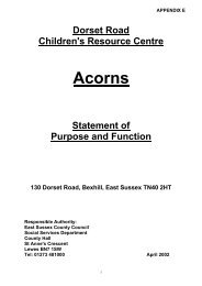 Acorns - East Sussex County Council