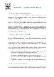 LOS BOSQUES - PREGUNTAS FRECUENTES - WWF