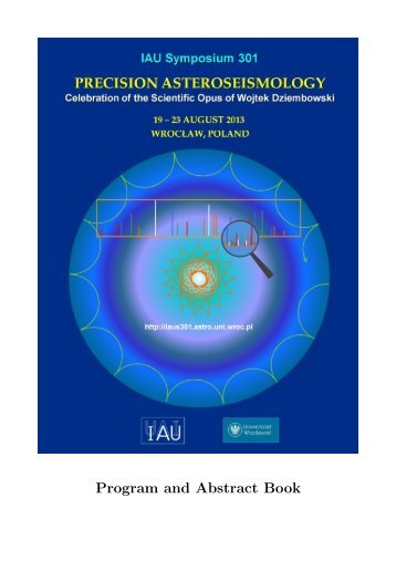 Program and Abstract Book - IAU Symposium 301