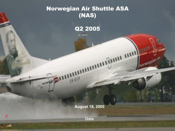 Presentation of results for Q2 2005 - Norwegian