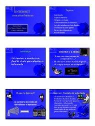 INTERNET conceitos básicos - Departamento de Sistemas e ...