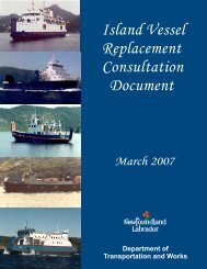 Island Vessel Replacement Consultation Document - Department of ...