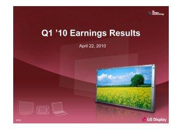 Q1 '10 Earnings Results - Displaybank