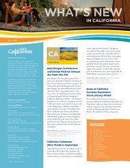 What's New in CA Fall 2012 - California Tourism