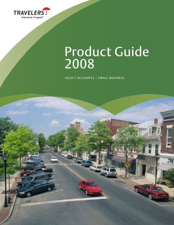 Product Guide 2008 - Travelers Insurance