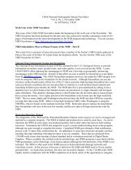 Sixth Year of the NHD Newsletter - National Hydrography Dataset ...