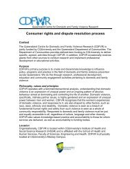 Consumer Rights and Dispute Resolution Policy - Qld Centre for ...