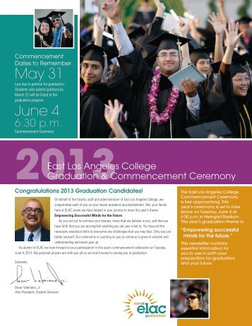 Commencement Newsletter - East Los Angeles College