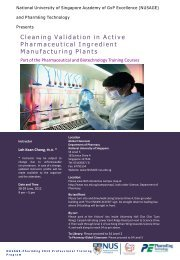 Cleaning Validation in Active Pharmaceutical Ingredient ...