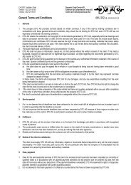 General Terms and Conditions - DTC