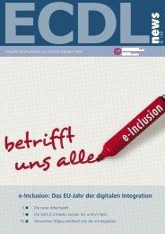 e-Inclusion: Das EU-Jahr der digitalen Integration - ECDL