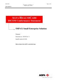 AGFA HEALTHCARE DICOM Conformance Statement IMPAX Small ...